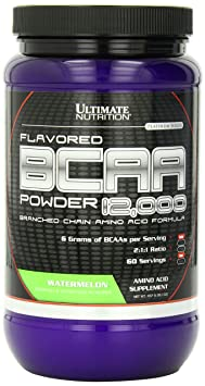 Ultimate Nutrition 100% Crystalline BCAA 12000-457.6 g (Watermelon) <span at amazon