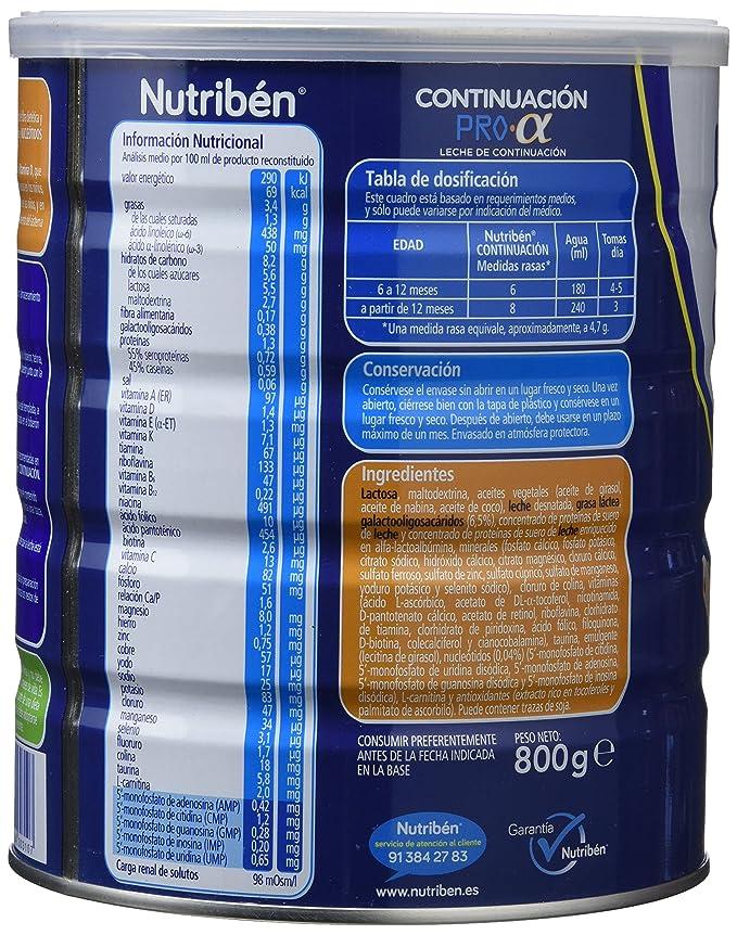 Nutribén Continuación 2 - Pro Alfa - 800 Gr: Amazon.es: Alimentación y bebidas