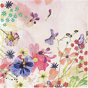Talking Tables Pack of 20 - Premium Floral Paper Napkins Ideal For Afternoon Tea Party -Birthday - Wedding - Bridal or Baby Shower, Pink
