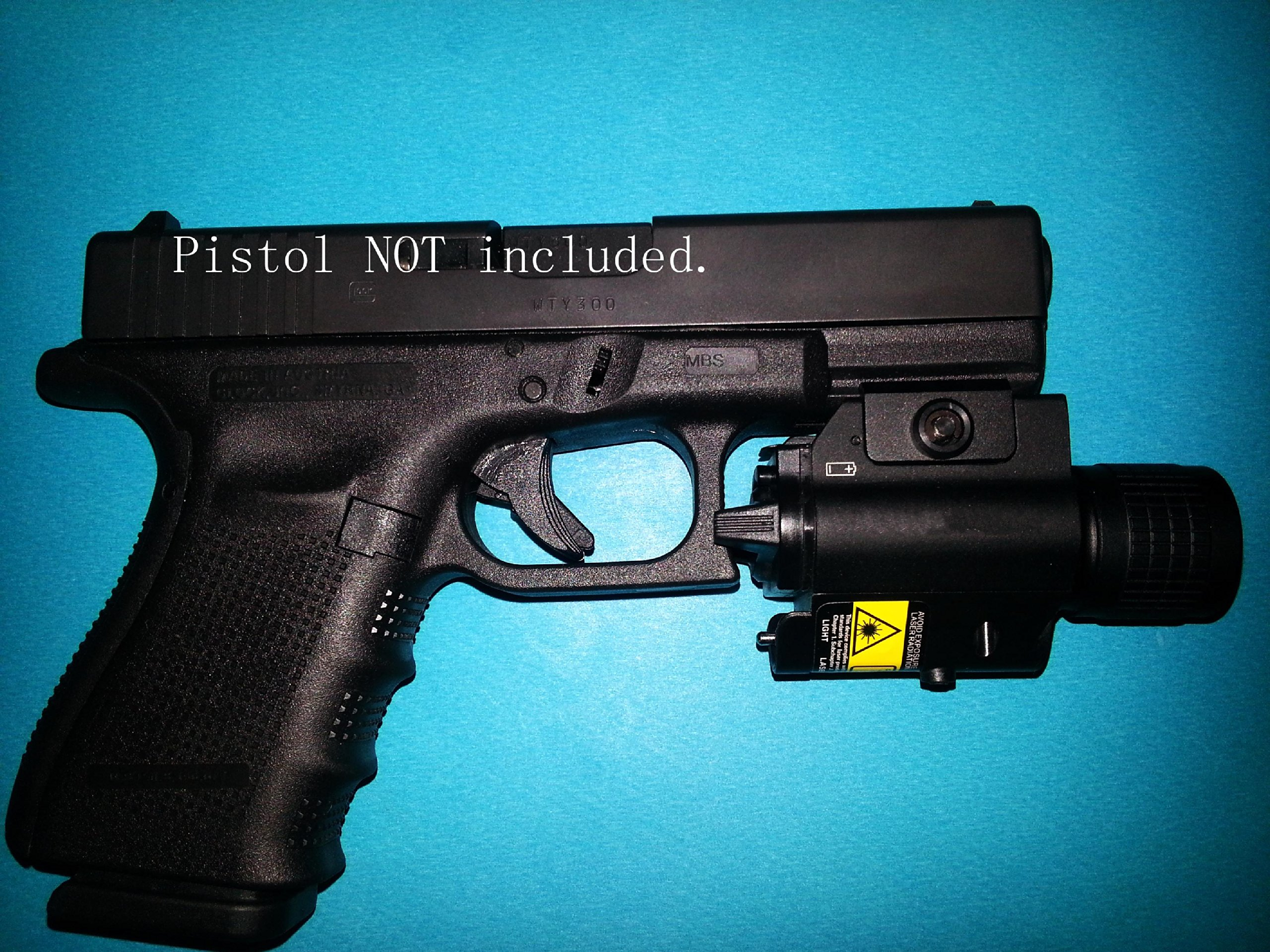 Ade Advanced Optics Tactical Compact Rail Mounted RED Laser Sight with 200 Lumen LED Flashlight by Ade Advanced Optics