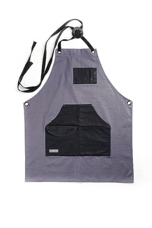 ... de lona encerada Gray Bear | Delantal de herramientas para uso general con bolsillos | Correas ajustables y reforzadas | Versátil, para taller, herrero, ...
