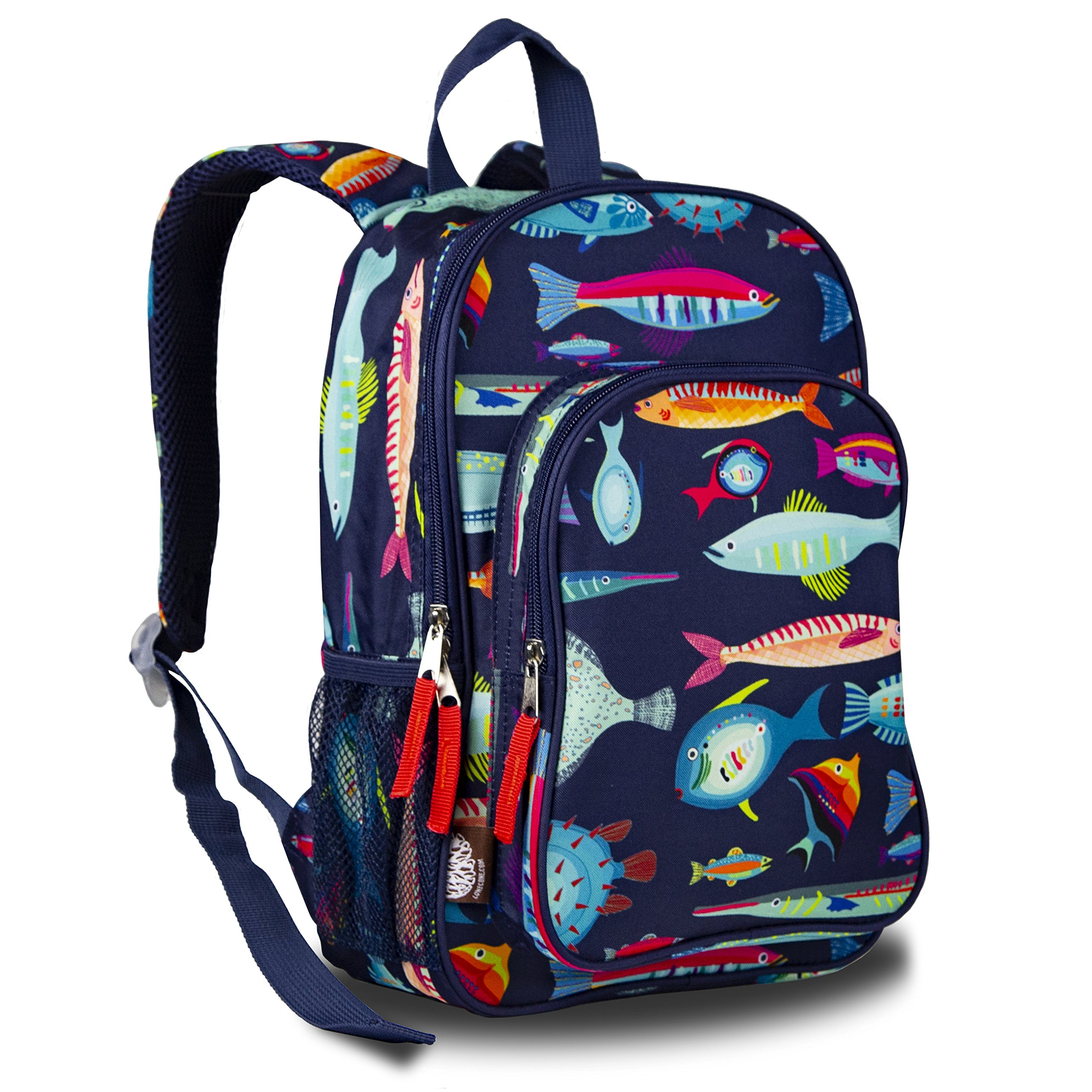 LONECONE Kids' Canvas Preschool Backpack - Integrated Tablet Sleeve, School of Fish by LONECONE (Image #6)