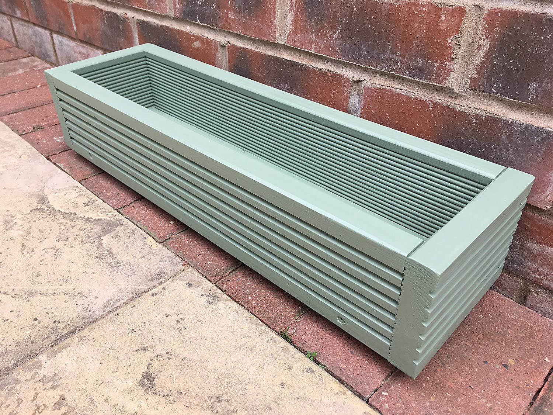 CR Planters 60cm Willow Green Wooden Window Box//Garden Planter Trough