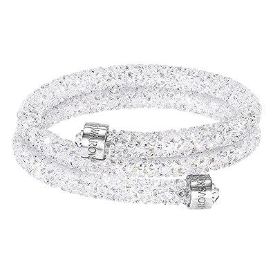 8de379ee2163 Swarovski Women s Stainless Steel and White Crystaldust Bracelet Bangle