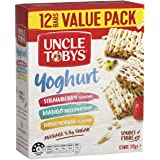UNCLE TOBYS Muesli Bars Yoghurt Variety, 12 Bars Value Pack, Variety Pack, 375g