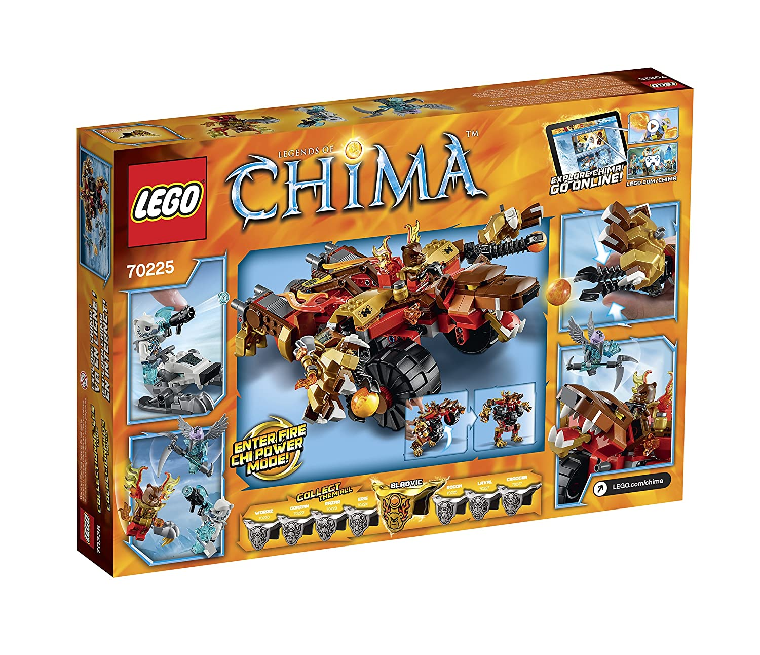 Amazon chima party supplies - Amazon Com Lego Legends Of Chima 70225 Bladvic S Rumble Bear Building Kit Toys Games