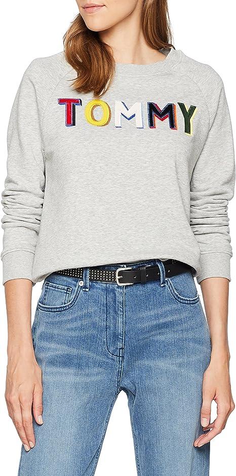 TALLA 44 (Talla del fabricante: 42 XL). Tommy Hilfiger Francesca C-nk Sweatshirt LS Sudadera para Mujer