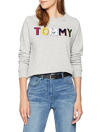 Pull logo coton Ligne Tommy Jeans Tommy Hilfiger gris LE