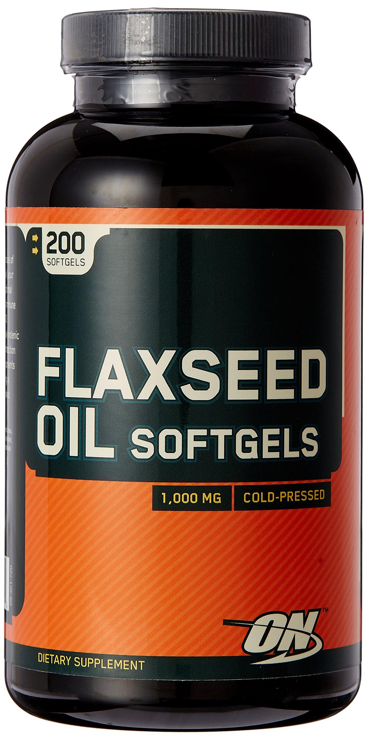 OPTIMUM NUTRITION Flaxseed Oil 1000mg, 200 Softgels