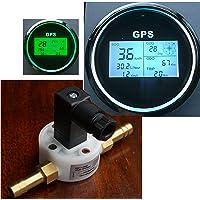 Benzin Durchflussmesser GPS Tacho Boot Liter pro Stunde/Km pro Liter Kompass
