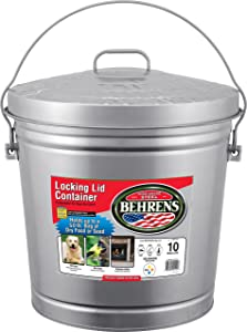 Behrens 085995001096 Next Page 6110 10-Gallon Locking Lid Can, Steel