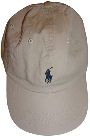 63f081c28832 Polo by Ralph Lauren Men s Hat Ball Cap Khaki with Navy Pony  Amazon.ca   Clothing   Accessories