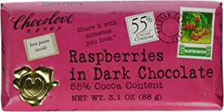 product image for Chocolove Xoxo Raspberries In Dark Chocolate Bar -- 3.1 Oz