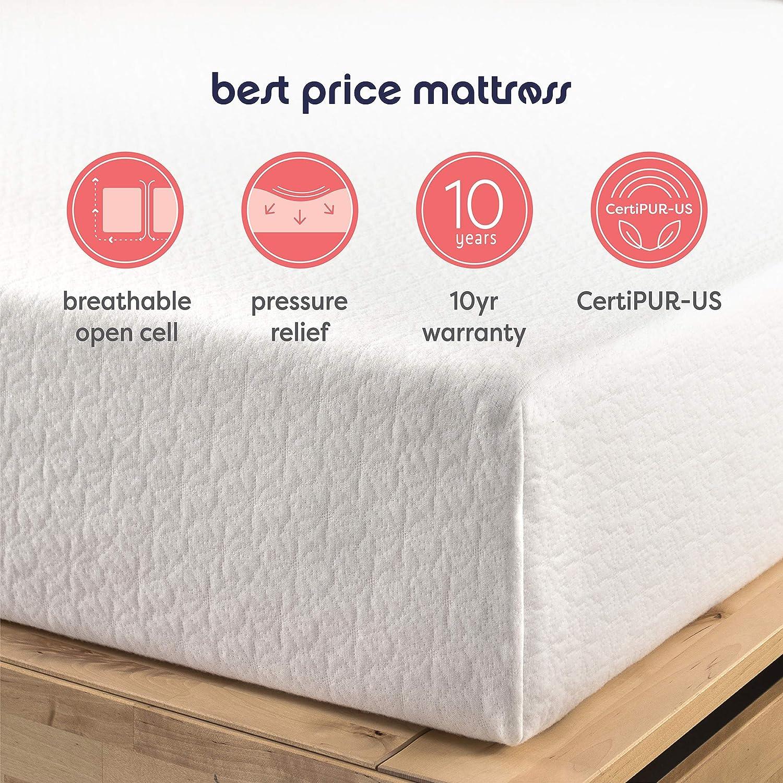 Amazon.com: Best Price Mattress 10-Inch Memory Foam Mattress
