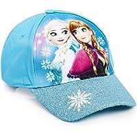 Disney Frozen 2 Gorra de Visera para Niña, Gorras Beisbol Azul con Las Princesas Anna y Elsa, Gorra Niña con Purpurina Talla Unica, Regalos Originales para Niñas