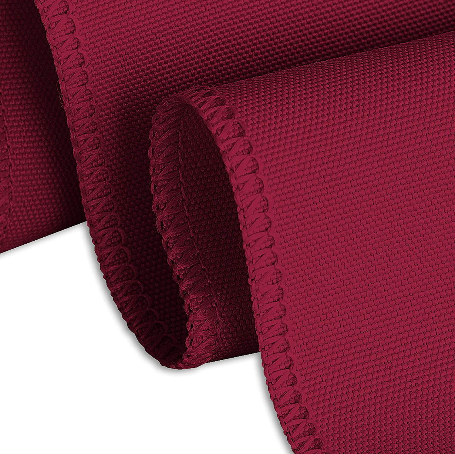 LinenTablecloth 14 ft Accordion Pleat Polyester Table Skirt Burgundy