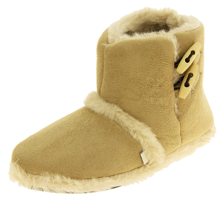 Femmes hiver Coolers bottes chaude hiver faux fourrure doublé bottes à fourrure glissière Beige 20e6d9b - piero.space