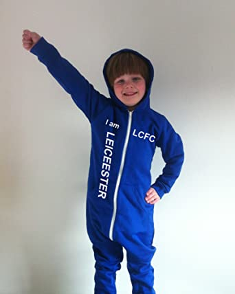 c0c8d6b874 Leicester City Style Hooded Onesie Adult Men Large  Amazon.co.uk  Clothing