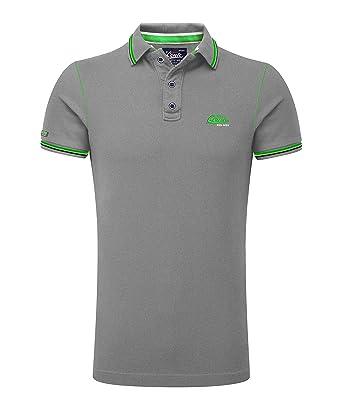 biggest discount a7a7d 3efa8 M.Conte Herren Poloshirt Kurzarm Stretch Polohemd T-Shirt Polo-Shirt Pique  Basic Men's Plain Royal Blau ML XL XXL XXXL Romano (XXL, Grau Melange)