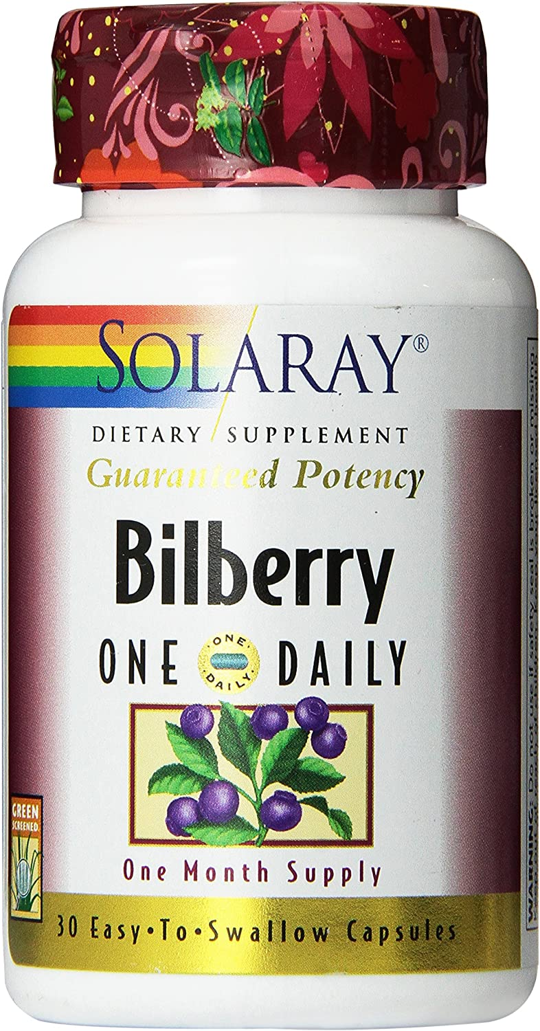 Solaray One Daily Bilberry Extract, 160mg   30 Count