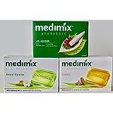 お試しセット♪MEDIMIX ソープ メディミックス アーユルヴェーダ石鹸、サンダルウッド&グリセリン&18ハーブ【3個セット】並行輸入品