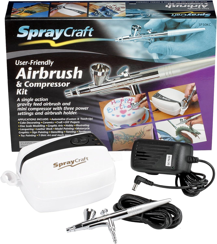Mini Modeling Air Brush Painting Kit Touch Up Paint Art Hobby Craft Airbrush