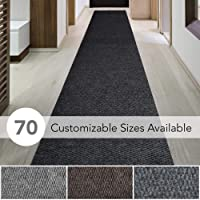 iCustomRug Spartan Weather Warrior Duty Indoor/Outdoor Utility Berber Loop Carpet Runner, Area Rugs, 3ft,4ft,6ft Widths 70 Custom Sizes with Natural Non-Slip Rubber Backing