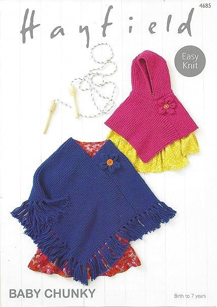 Sirdarhayfield Baby Chunky 100g Knittig Pattern 4685 Ponchos