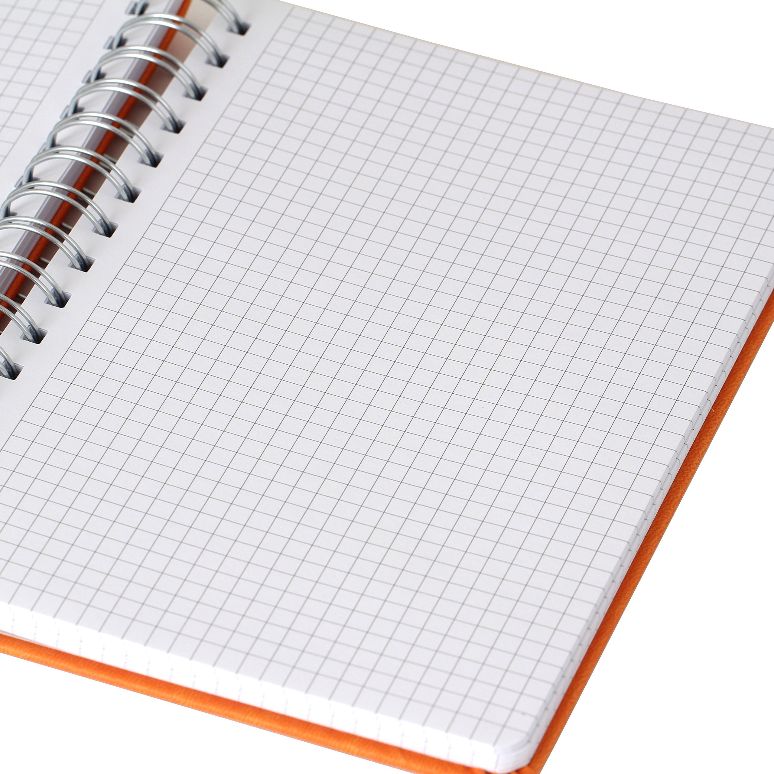 Office+Style PU Personal Graph Notebook with Double Spiral Binding, 96 Sheets, Orange (OS3-NBORG) by Office+Style (Image #1)