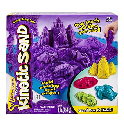 Kinetic Sand - Sandbox & Molds Activity Set (Colors Vary)