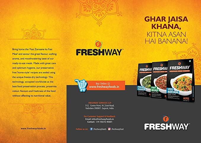 freshway ready to eat freeze dried pav bhaji with no added preservatives colors amazon in grocery gourmet foods