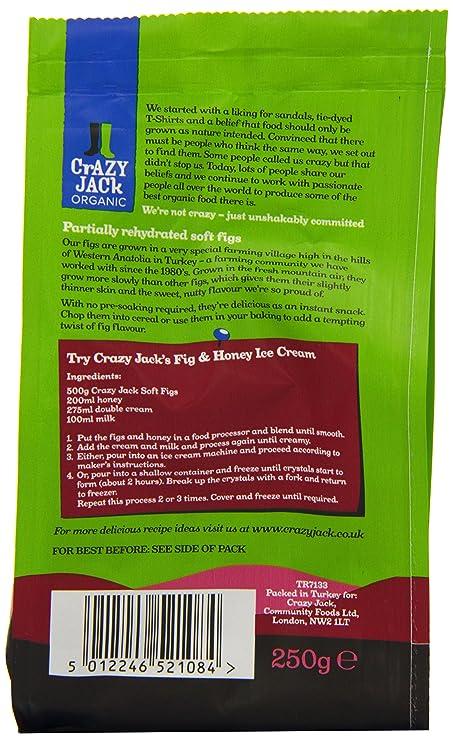 Crazy Jacks Organic Figs 250 g (Pack of 3): Amazon.es ...