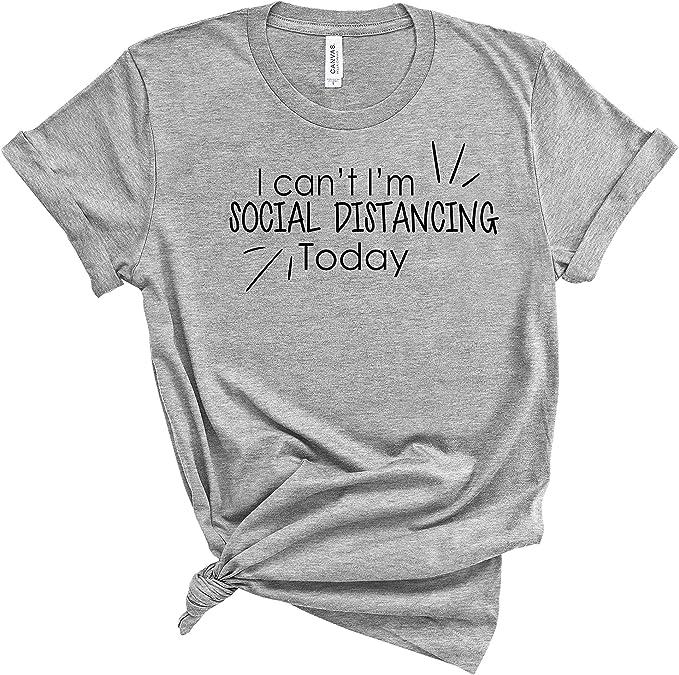 2209C Social Distance Gun Adult/'s T-shirt Pandemic Quarantine Tee for Men