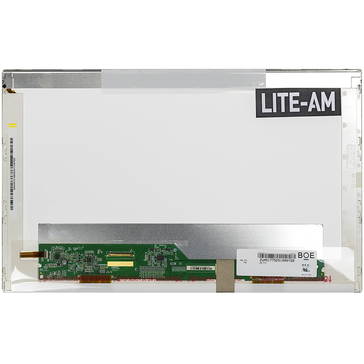 """Lite-am/® Replacement 15.6/"""" Laptop LED LCD Screen For Toshiba Satellite L850-162 L850-166 L850-1D4 L850-1D5 L850-1LK L850-1MT L850-1WC L855-10P L855-10T L855-10W L855-14Q L855-188 L855D-100 L855-S5372 P750-114 P750-13N P750-15L P850-12X P850-138 P"""