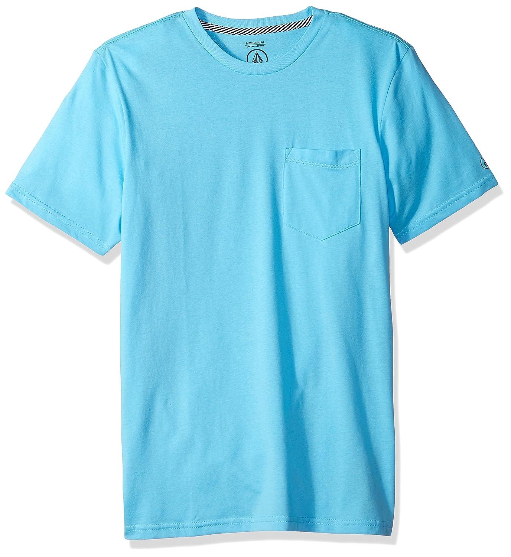 (ボルコム) VOLCOM メンズ 無地 半袖 Tシャツ (モダンFIT 採用) ポケット付き ポケT 【 A5011611/Solid Pocket SS Tee 】 B0752G2QM3 XX-Large|アクア アクア XX-Large