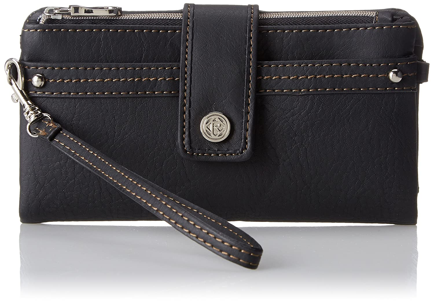 Amazon.com: Relic Womens Vicky Tab Checkbook Wallet, Black, One Size: Clothing