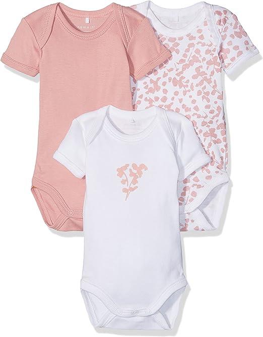 NAME IT Nbfbody 3p Ss Rose Tan Noos, Body para Bebés, (Pack de 3 ...