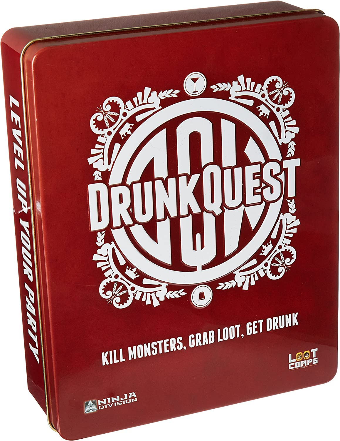 Ninja Division Drunk Quest Tin Packaging Board Game (6 Player)