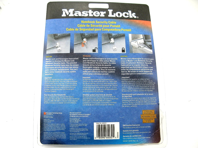 Amazon.com: KENSINGTON master lock cable - black universal ...