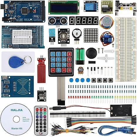 haljia proyecto Ultimate Kit de iniciación Compatible con Arduino ...