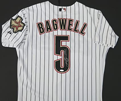 a1911c1d9 Jeff Bagwell Autographed Houston Astros Jersey (signed in silver at private  autograph session). BAS COA) at Amazon's Sports Collectibles Store