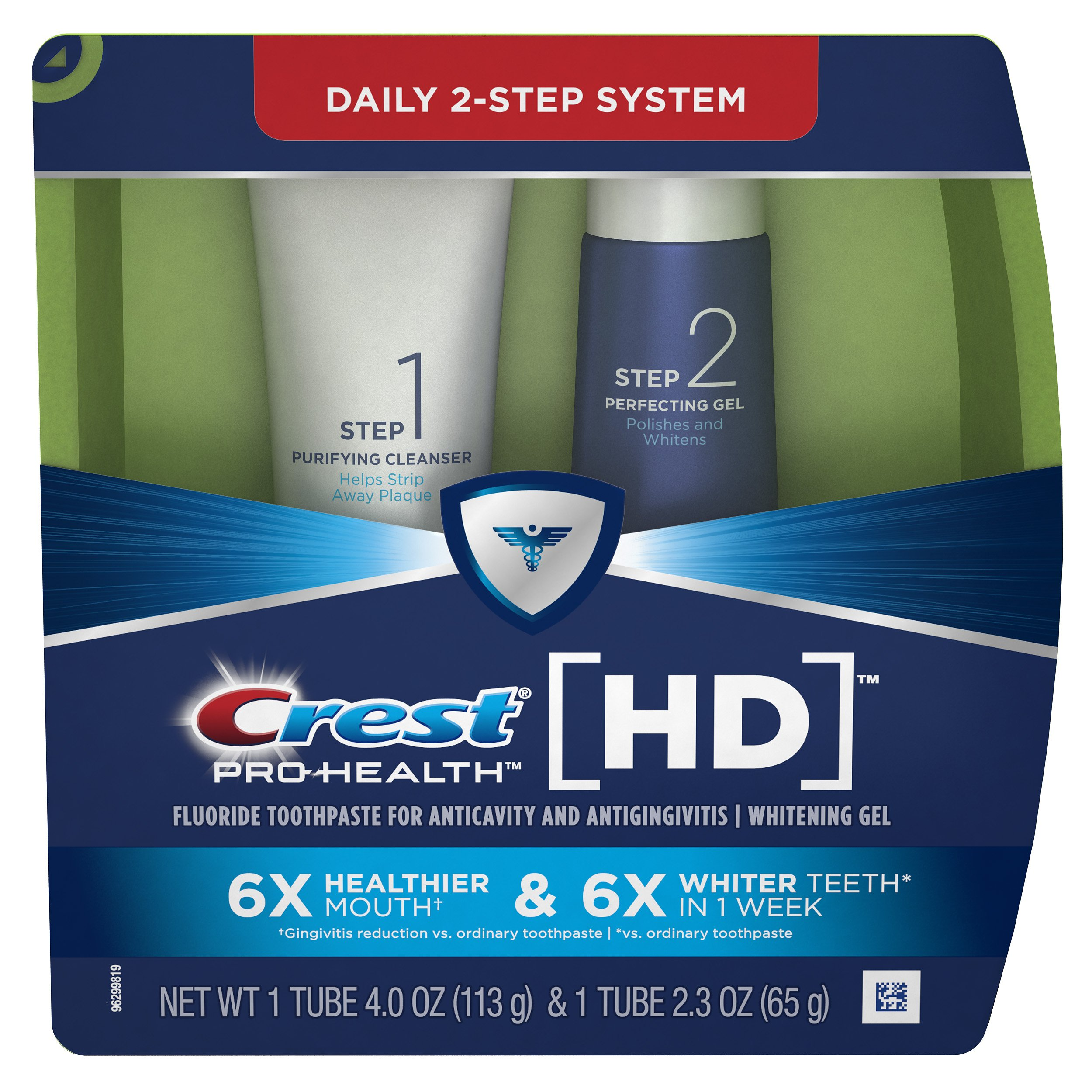 Crest Pro-Health HD Daily Two-Step Toothpaste System