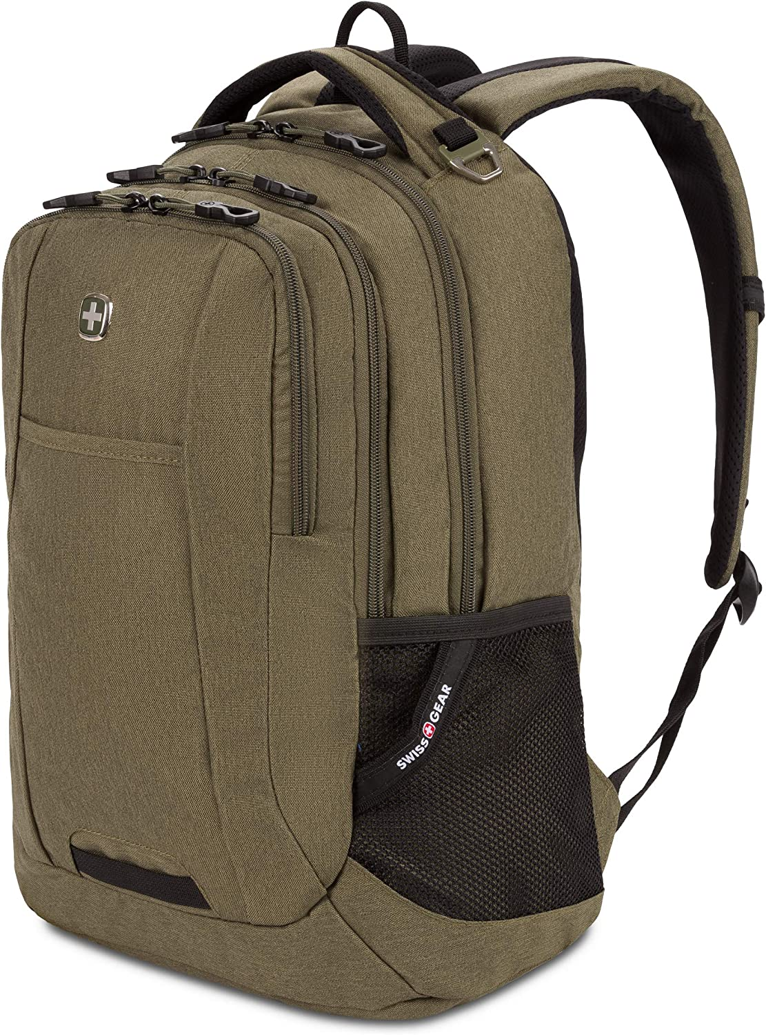 SWISSGEAR 5505 Laptop Backpack for Men and Women, Ideal for Commuting, Work, Travel, College, and School, Fits 15 Inch Laptop Notebook (Olive)
