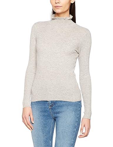 New Look Ruffle Edge Neck, Jersey de cuello alto para Mujer