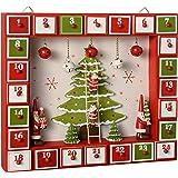 WeRChristmas–Albero di Natale decorazione casa Calendario dell' Avvento, Multicolore, 27cm