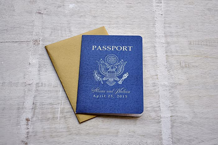 Amazon Com Passport Invitation Us Traditional Emblem With Antique