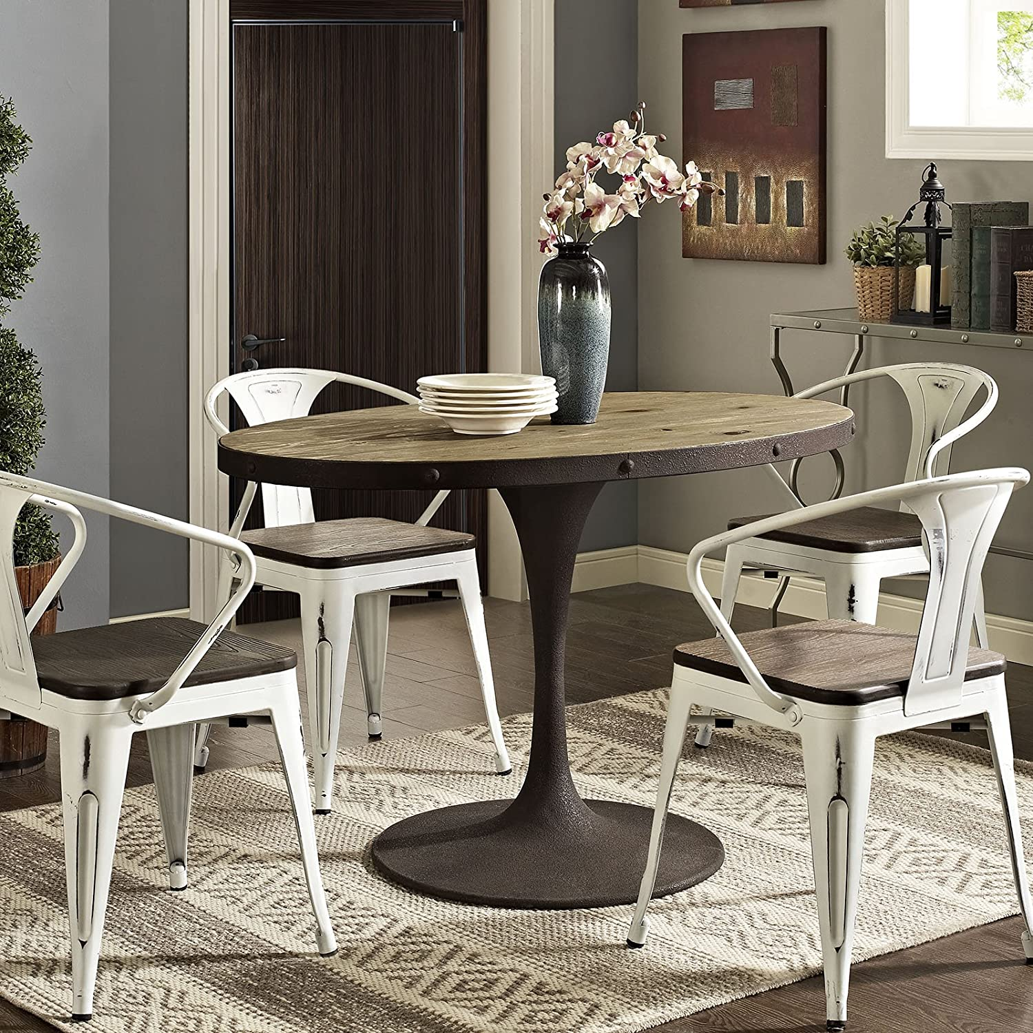 Amazon modway drive oval wood top dining table 47 brown amazon modway drive oval wood top dining table 47 brown kitchen dining workwithnaturefo
