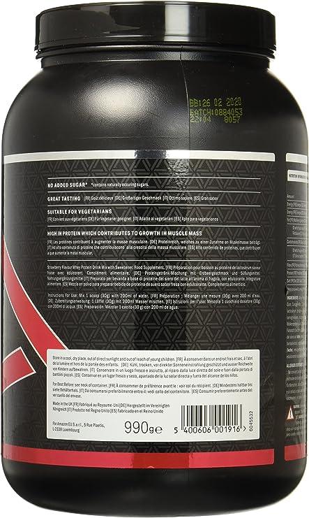 Marca Amazon - AMFIT Whey Isolate - Strawberry Delight 990g ...