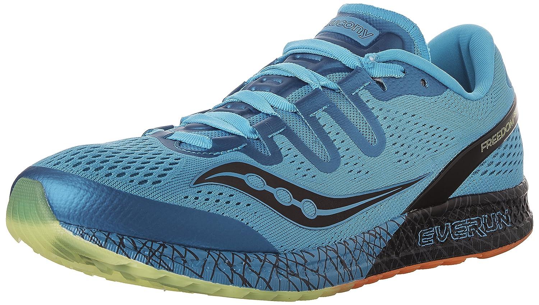 Saucony Men's Freedom ISO Running Shoe B005BFRKAC 7.5 D(M) US|Blue/Citron