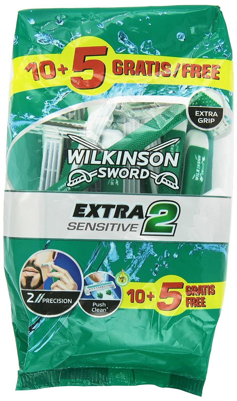 Wilkinson Extra II Sensitive - Máquina desechable, bolsa de 15 unidades Edgewell 287229